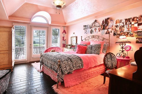 animal print, barbie, pink, princess, room
