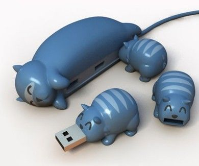 animals, blue, cat, cute, flash drive, love, pen drive