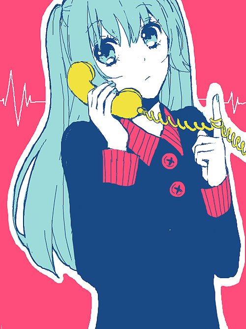 anime, cute, miku, phone, pink