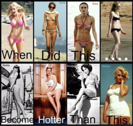 anorexia, bettie paige, black and white, bullshit, curves are so sexy, dont hate, everyone is different, funny ur just has hateful, girl, good question, love ur body thin or not, marilyn monrow, modern times, not bullshit, pos