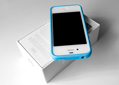 apple, blue, box, cell phone, iphone