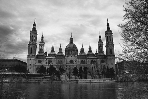 architecture, b&w, beautiful, black & white, black and white, castle, cloud, clouds, landscape, nature, photo, photography, place, sky, water
