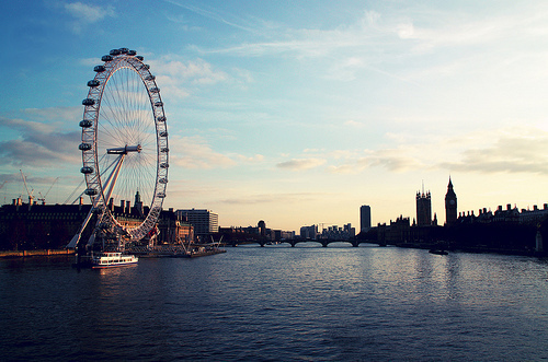 architecture, england, london, london eye, photography, river, skyline