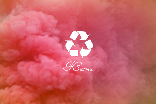around, back, clouds, comes, goes, karma, letters, life, mark, message, photography, recycle, red, sign, sky, smoke, text, what, written