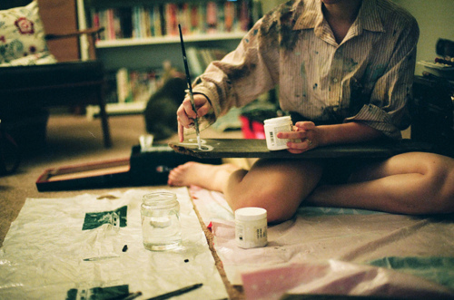 art, artist, beautiful, cool, cute, drawing, girl, hipster, indie, painting, photo, photography, children paint