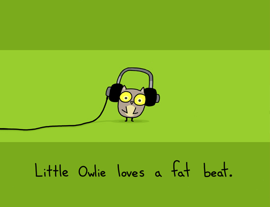 art, beat, cute, illustration, little, love, owl, owlie, sebastien millon