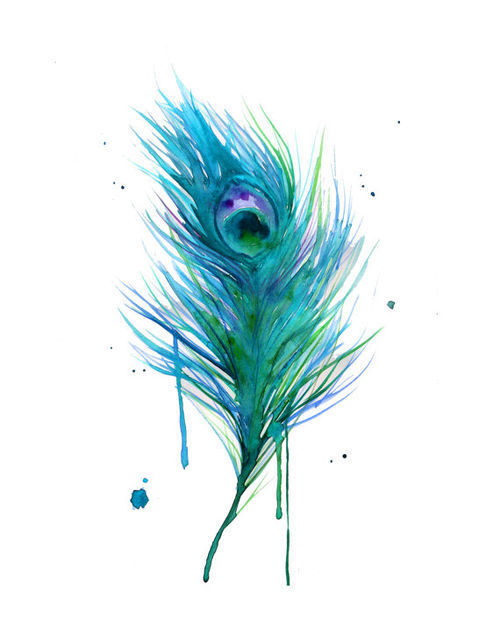 art, beautiful, colours, pastels, peacock feather  image 419317 on