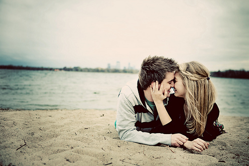 art, couple, cute, kiss, kissing, love, text