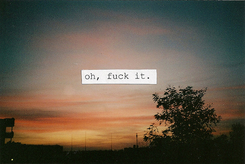 art, cute, fuck, fuck it, fuck off, fuck you, nature, paradise, quote, sky, sunrise, sunshine, text, typography