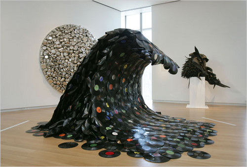 art, sound wave, vintage, vinyl