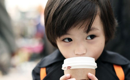 asian, boy, child, coffe, cute
