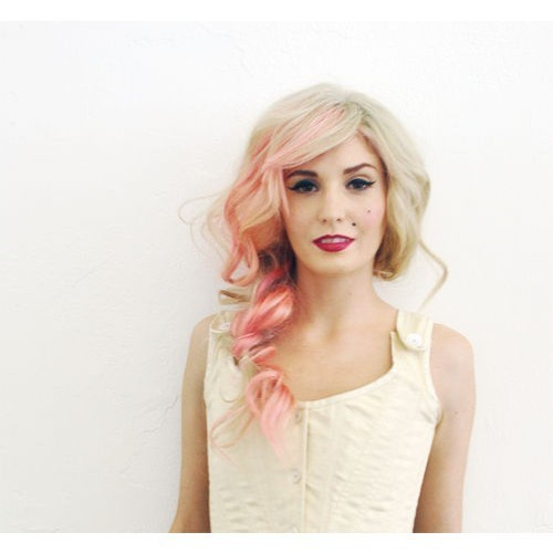 audrey kitching, coloured hair, dyed hair, girl, pastel hair