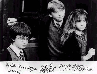 autographs, black and white, children, cute, daniel radcliffe