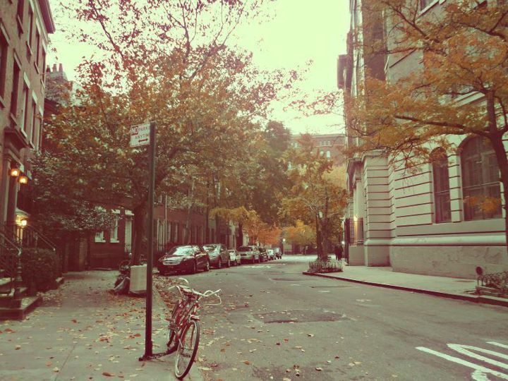 autumn, beautiful, bike, city, cute