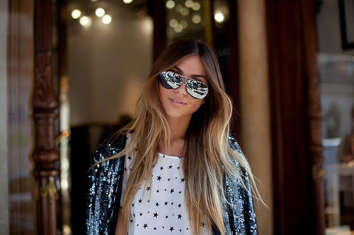 aviator, beautiful, blazer, blogger, blonde, brunette, chic, fashion, girl, glam, greek, hair, long hair, natalia, outfit, pretty, sequins, stars, street chic, style, sunglasses, twinfashion, vogue