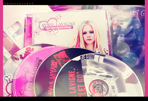 avril, avril lavigne, black, cds, cute, girl, let go, music, pink, the best damn thing, under my skin