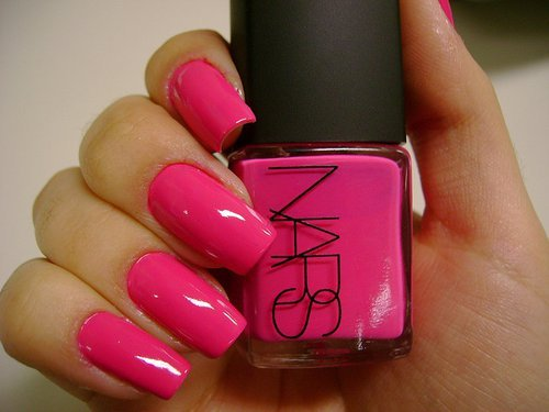awesom, girl, nails, nars, nars nailpolish, pink, summer