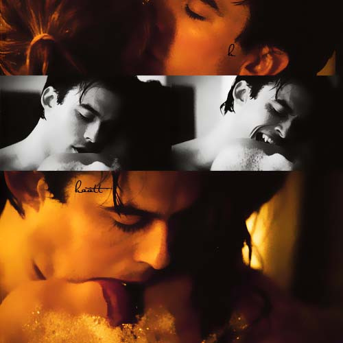 awesome, beautiful, blood, blue eyes, boy, couple, cute, damon, heart, hot, ian, kiss, love, nina dobrev, salvatore, sexy, somerhalder, superman, vampire