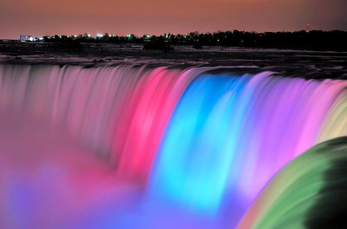 awesome, beautiful, blue, colorful, colourful, cute, green, pink, purple, waterfall, wonderful