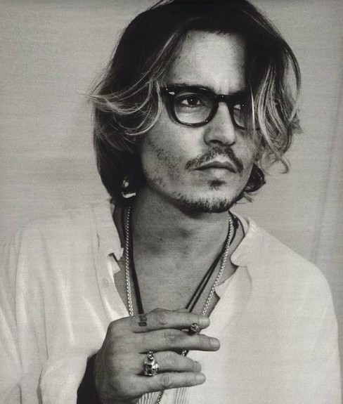 awesome, black and white, cigarette, dude, hot, johnny depp, photography, retro, vintage