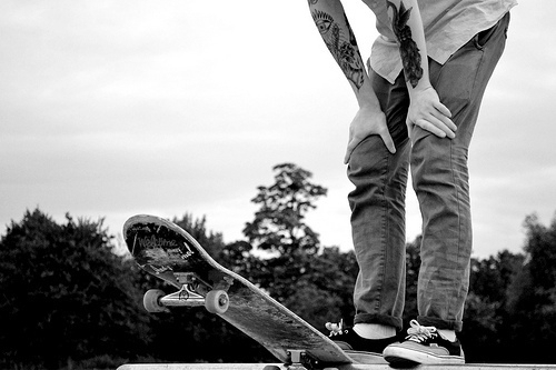 awesome, black and white, cool, dope, skateboard - image ...
