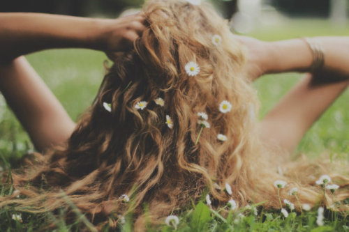 awesome, daffodiles, girl, hair, photography