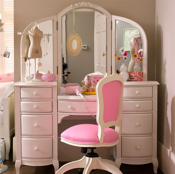Awn cute cute room rosa pink rose dressing image for Cute makeup vanity