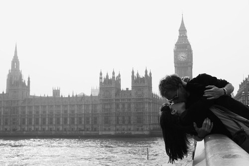 aws, aww, big ben, boy, brunette, cute, fashion, fun, funny, girl, haha, hair, kiss, london, long hair, love, pretty, sunglasses