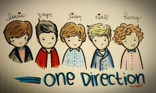 aww, cute, doodle, drawing, one direction