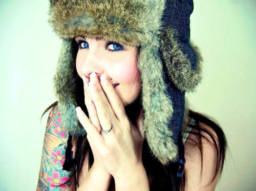 babe, cute, girl, hat, hot