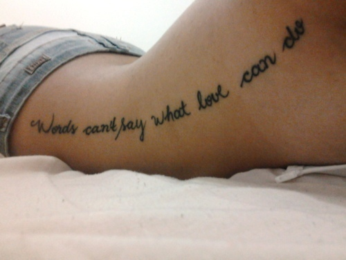 back, cute, love, tattoo
