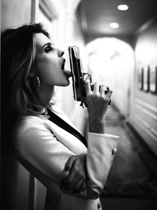 badass, black and white, gun, photography