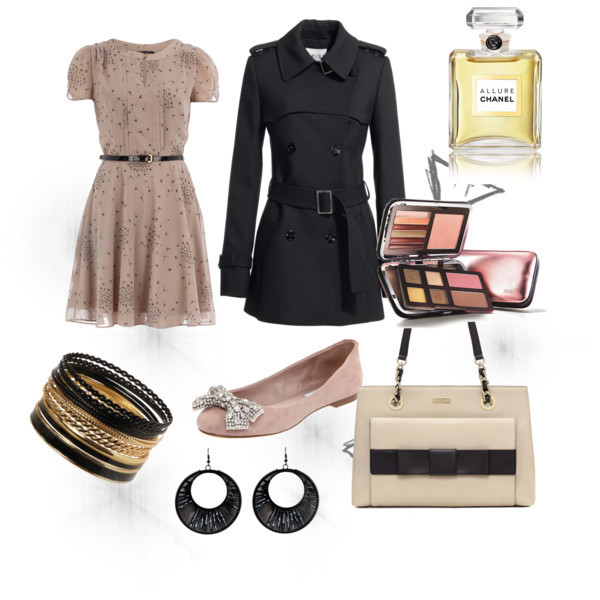 bag, ballet, beautiful, black, chanel, coat, dress, dresses, earings, fashion, girl, great, kapege, make up