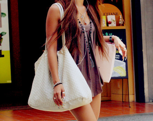 bag, beautiful, clothes, girl, hair