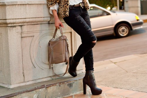 bag, beautiful, fashion, heels, high heels, jeans, pants, pretty, ripped, shoes, style
