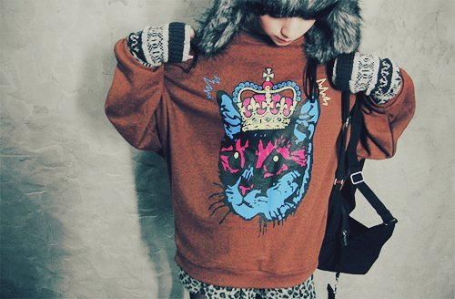 bag, black, brown, cap, cat, clothes, fashio, fashion, fur, girl, girls, gloves, long, photography, sweater, ves