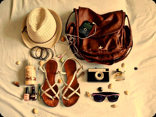 bag, blackberry, bracelet, bracelets, camera, clothes, cream, earphones, edge, fashion, girl, glasses, happiness, headphones, lady, memories, memory, music, nail polish, nice, perfume, pretty, retro, shoes, star, style, sun glasses, vacation, vintage