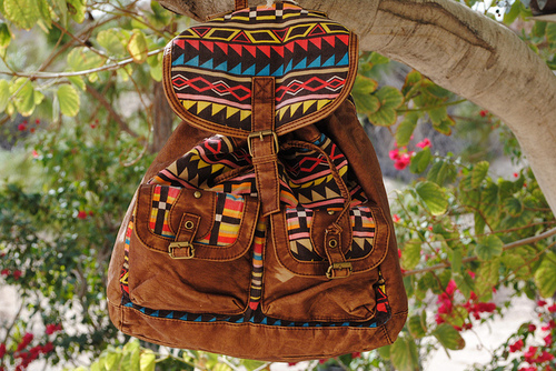 bag, bohemian, boho, brown, colorful