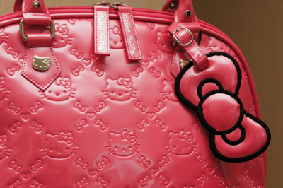 bag, cute, hello kitty, hot pink, pink