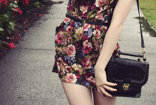 bag, dress, fashion, flower, sofis, vintage