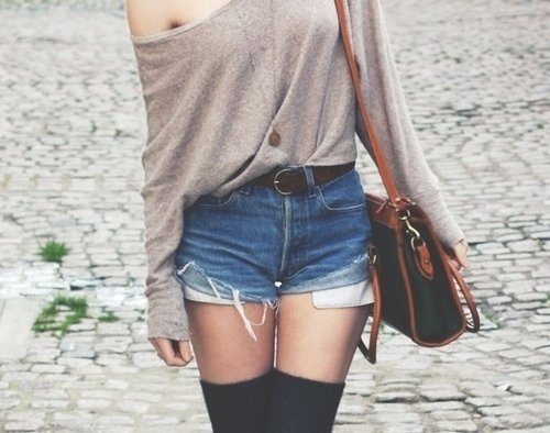 bag, fashion, girl, jewelry, necklace, photo, purse, shorts, socks, style
