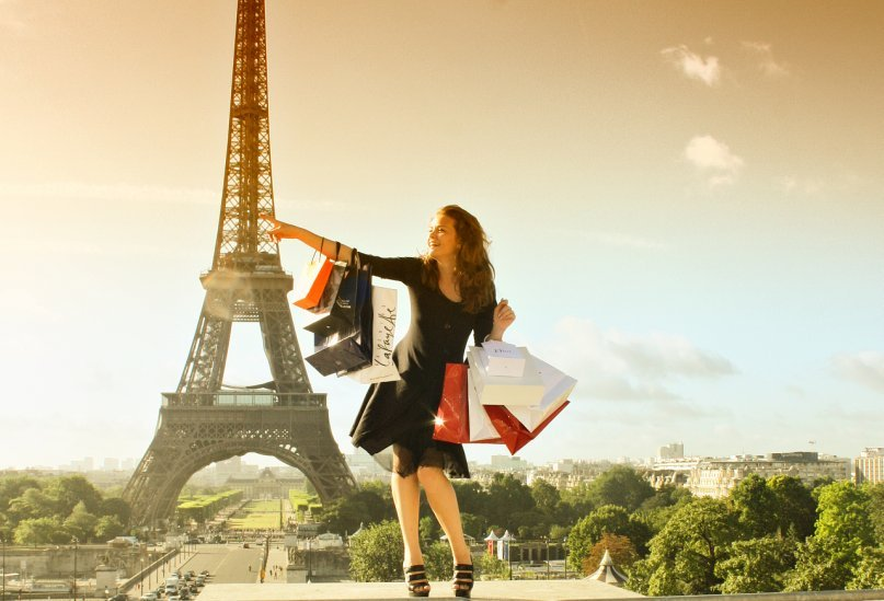 bags, cool, cute, eifel tower, girl