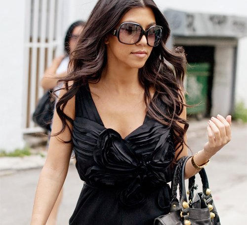 balenciaga, brunette, couture, dress, fashion, girl, glam, kardashian, kardashians, kourtney, kourtney kardashian, photography, pretty, sunglasses