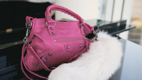 balenciaga, fashion, fur, photography, pink