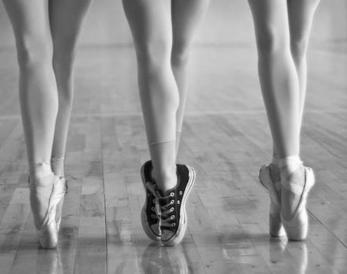 ballet, beautiful, black and white, converse, cool
