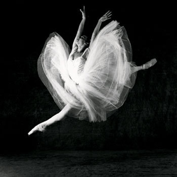 ballet, black and white, girl, jump
