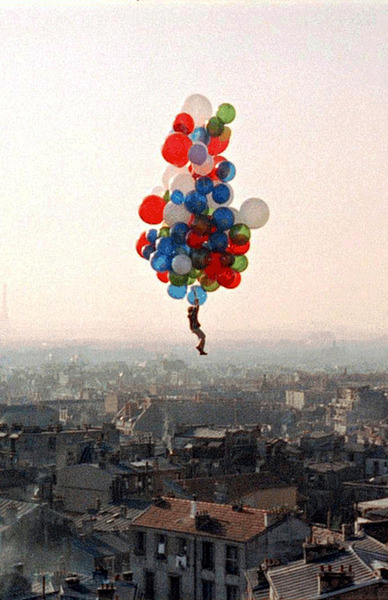 ballon, ballons, boy, colors, fly, funny, indie, photography, sky, vintage