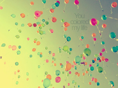 ballons, beauty, colors, sky, you colored my life