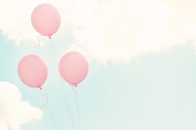 balloon, balloons, beautiful, blue, celeste, cielo, clouds, cool, cute, globos, lindo, lovely, lucy, nice, photography, pink, rosado, sky, sweet, vintage