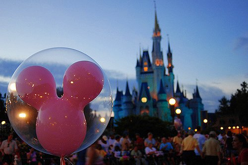 balloon, castle, diseny, disney, photography, pink